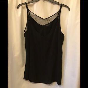 NWOT CityChic Black Layered Cami Size 18 #2233